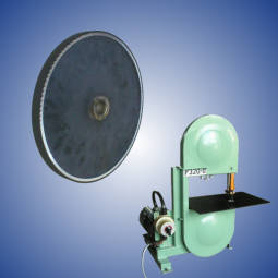 Rubberized wheel for P320 band saw